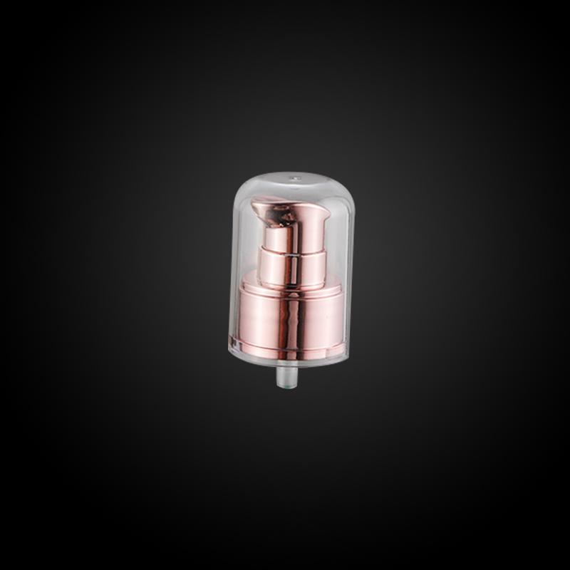 Nuobang Aluminum cream pump with transparent full cap